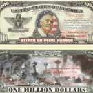 ATTACK ON PEARL HARBOR 1941 ROOSEVELT DOLLAR BILLS x 4