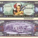 ELVIS PRESLEY A BLUE CHRISTMAS MILLION DOLLAR BILLS x 2