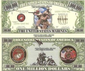 UNITED STATES MARINE CORPS SEMPER FIDELIS DOLLAR BILL x 4