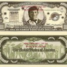 JESSE JAMES GANG OUTLAW $100,000 DOLLAR BILLS x 4 NEW