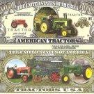 AMERICAN FARM TRACTORS ONE MILLION DOLLAR BILLS x 4 NEW