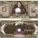 FORTUNE TELLER CRYSTAL BALL MILLION DOLLAR BILLS x 4 NEW