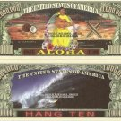 HAWAII ALOHA PACIFIC PARADISE MILLION DOLLAR BILLS x 4