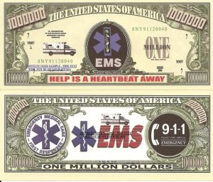 EMERGENCY MEDICAL SERVICES EMS MILLION DOLLAR BILLS x 4