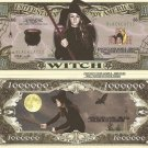 WITCH BLACK CAT MILLION DOLLAR BILLS x 4 HALLOWEEN NEW