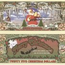 SANTA CLAUS MERRY CHRISTMAS 25 DOLLAR BILLS x 4 GIFT