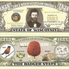 WISCONSIN THE BADGER STATE 1848 DOLLAR BILLS x 4 WI