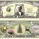 WASHINGTON THE EVERGREEN STATE 1889 DOLLAR BILLS x 4 WA