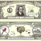 VIRGINIA THE OLD DOMINION STATE 1788 DOLLAR BILLS x4 VA