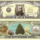 SOUTH DAKOTA MOUNT RUSHMORE STATE 1889 DOLLAR BILLS x 4