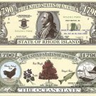 RHODE ISLAND THE OCEAN STATE 1790 DOLLAR BILLS x 4 RI