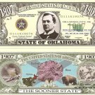 OKLAHOMA THE SOONER STATE 1907 DOLLAR BILLS x 4 OK