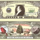 OHIO THE BUCKEYE STATE 1803 DOLLAR BILLS x 4 OH