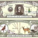NEW HAMPSHIRE THE GRANITE STATE 1788 DOLLAR BILLS x4 NH