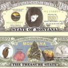 MONTANA THE TREASURE STATE 1889 DOLLAR BILLS x 4 MT