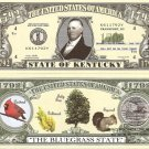 KENTUCKY THE BLUEGRASS STATE 1792 DOLLAR BILLS x 4 KY