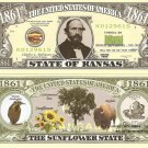 KANSAS THE SUNFLOWER STATE 1861 DOLLAR BILLS x 4 KS