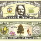 IOWA THE HAWKEYE STATE 1846 DOLLAR BILLS x 4 IA
