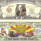 ARIZONA THE GRAND CANYON STATE 1912 DOLLAR BILLS x 4 AZ