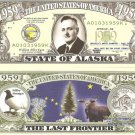 ALASKA THE LAST FRONTIER STATE 1959 DOLLAR BILLS x 4 AK