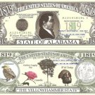 ALABAMA THE YELLOWHAMMER STATE 1819 DOLLAR BILLS x 4 AL