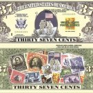 UNITED STATES POSTAL SERVICE 37c 200 YEARS BILLS x 4