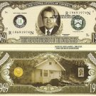37th PRESIDENT RICHARD NIXON MILLION DOLLAR BILLS x 4