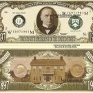 25th PRESIDENT WILLIAM McKINLEY MILLION DOLLAR BILLS x 4