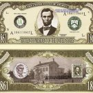 16th PRESIDENT ABRAHAM LINCOLN MILLION DOLLAR BILLS x 4