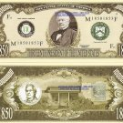 13th PRESIDENT MILLARD FILLMORE MILLION DOLLAR BILLS x 4