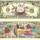 HAPPY BIRTHDAY CAKE ONE MILLION DOLLAR BILLS x 4 GIFT