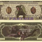 BLACK PANTHERS ONE MILLION PANTHER DOLLAR BILLS x 4 NEW