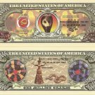 SNAKES SERPENT GODDESS MILLION SNAKE DOLLAR BILLS x 4