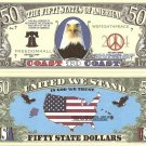 COAST TO COAST 50 STATES OF AMERICA US DOLLAR BILLS x4