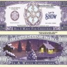 WHITE CHRISTMAS SNOW FLAKE MILLION DOLLAR BILLS x 4 NEW