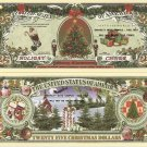 HOLIDAY CHEER MERRY CHRISTMAS TREE DOLLAR BILLS x 4 NEW