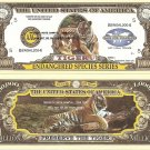 BENGAL TIGER ENDANGERED SPECIES MILLION DOLLAR BILLS x4