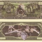 BATS ONE MILLION VAMPIRE BAT DOLLAR BILLS x 4 HALLOWEEN