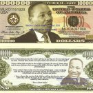MARTIN LUTHER KING JUNIOR ONE MILLION DOLLAR BILLS x 4