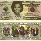 MICHELLE OBAMA FIRST LADY FAMILY MILLION DOLLAR BILLSx4