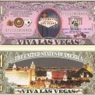 VIVA LAS VEGAS NEVADA SIN CITY 21 DOLLAR BILLS x 4 NEW