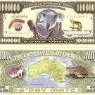 KOALA BEAR KANGAROO CROCODILE MILLION DOLLAR BILLS x 4