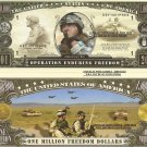 OPERATION ENDURING FREEDOM AFGHANISTAN DOLLAR BILLS x 4