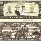 KOREAN WAR 1950-1953 VETERAN MILLION DOLLAR BILLS x 4