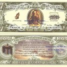 PRAISE THE LORD JESUS SAVES Psalm 23 7 DOLLAR BILLS x 4