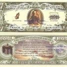 PRAISE THE LORD JESUS SAVES Psalm 23 7 DOLLAR BILLS x 4