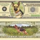 GERMAN SHEPHERD ALSATIAN DOG MILLION DOLLAR BILLS x 4