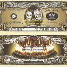 50th BIRTHDAY OVER THE HILL DOLLAR BILLS x 4 GIFT NEW