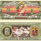 CINCO DE MAYO MEXICAN JALISCO DANCER 5 DOLLAR BILLS x 4