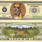 BOXER DOG ONE MILLION DOLLAR BILLS x 4 NEW GIFT